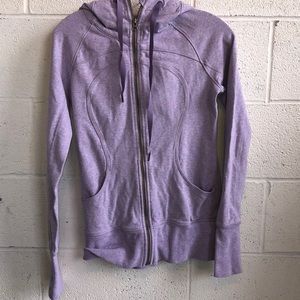 Lululemon lavender sweat jacket w/ hood sz 4 61150